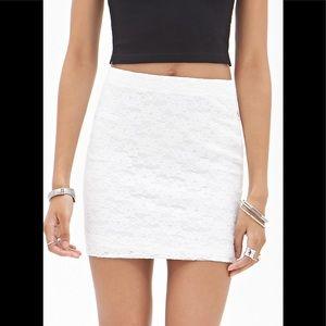 Banana Republic Petite White Lace Skirt